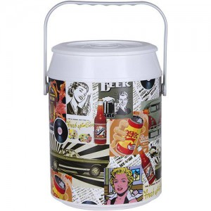 Geladeira Cooler Retrô Color 12 Latas - Anabell