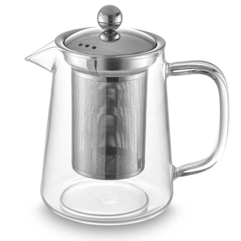 Bule para Chá em Vidro e Aço Inox com Infusor 800ml - Oxford