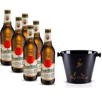 Pack 6 Cervejas Pilsner Urquell 500ml + Balde para Cerveja em Alumínio 5L Keep Walking