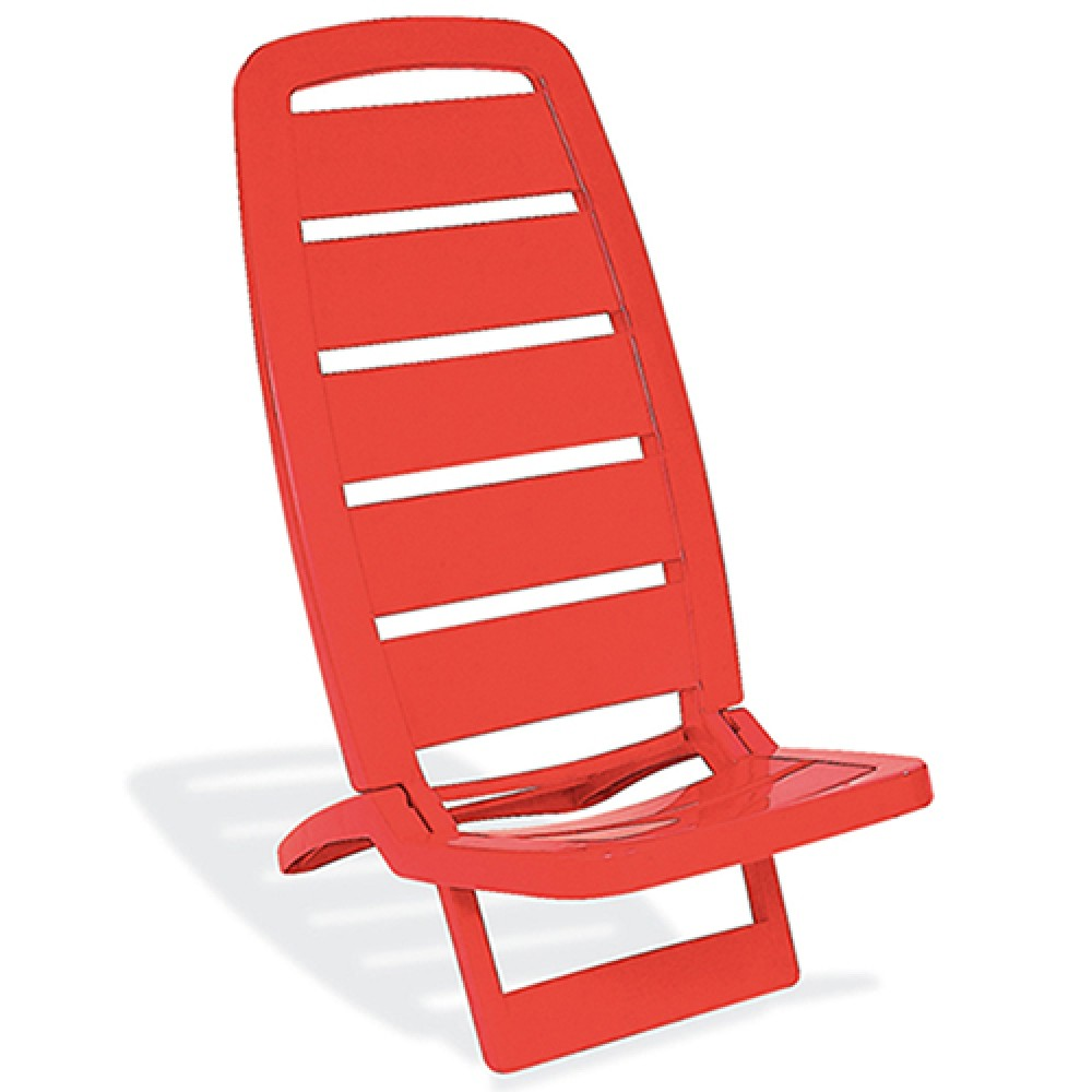 Cadeira de Praia Basic Guarujá Vermelha - Tramontina